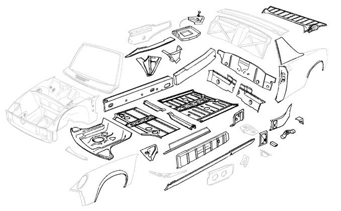 car body parts list pdf