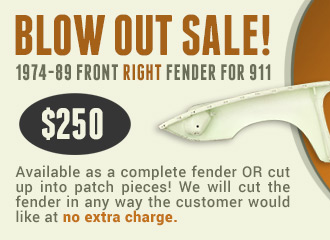 911 Right Fender Sale